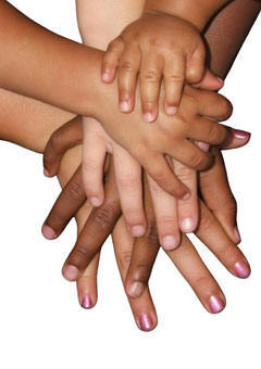 inclusion hands together